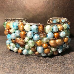 Pearl Enchantment Cuff Bracelet